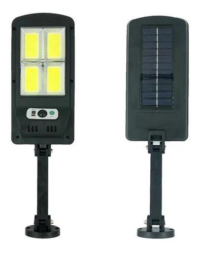 Luminária Solar Haste Parede 48 Led Sensor 3 Funções