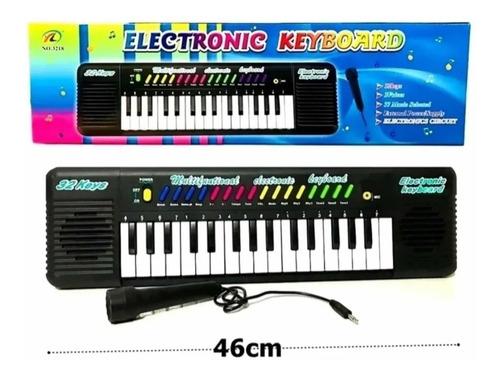 Teclado Piano Com Microfone Infantil