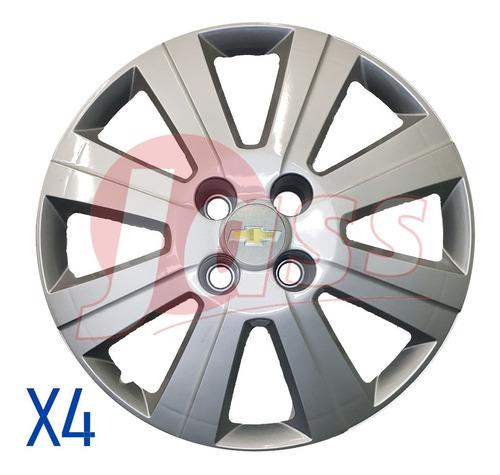Juego 4 Tazas Rodado 15 Chevrolet Agile Prisma Onix Pulgadas