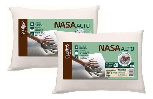Kit Com 2 Travesseiros Nasaalto  Viscoelastico - Duoflex
