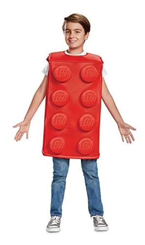 Disfraz De Lego Clásico De Ladrillo Rojo Para Niño