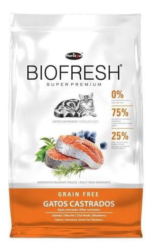 Alimento Biofresh Super Premium Castrados Para Gato Sabor Carne, Frutas Y Vegetales En Bolsa De 7.5kg