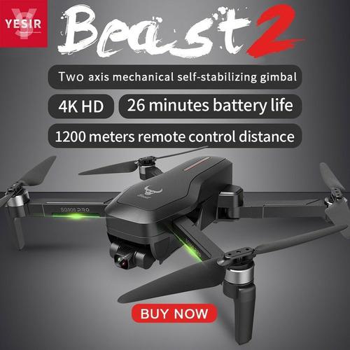Drone Sg906 Pro2 Gimbal 3eixos Wi-fi 5g 4k Gps  3 Baterias
