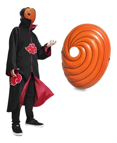 Kit Manto Akatsuki + Máscara Tobi - Naruto Capa Cosplay