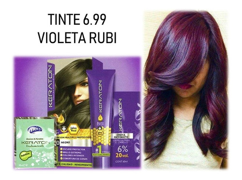 Tinte Keraton 6.99 Violeta Rubi - L a $165