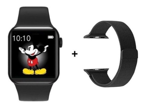 Relógio Smartwatch Iwo Max 2.0 Pulseira Aço Milanese Brinde