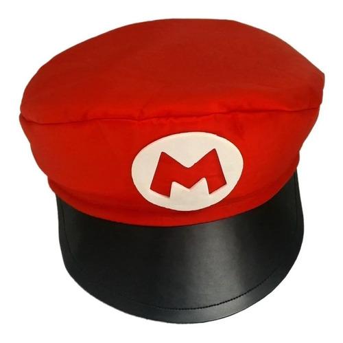 Quepe Super Mario Bros / Boina / Chapeu  + Brinde ( Bigode )