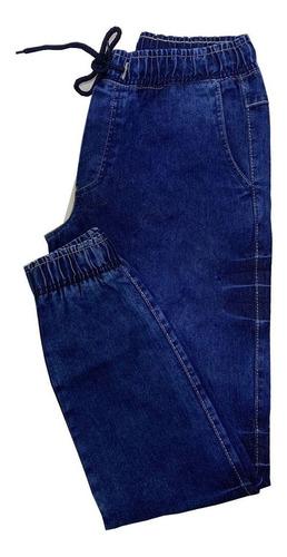 Calças Jeans Sarja Camuflada Masculina Jogger Com Elastico