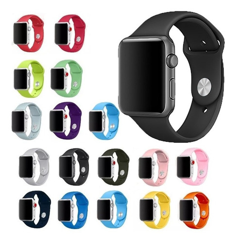 Pulseira Sport Para Apple Watch Iwo 38mm 40mm 42mm 44mm 4 5
