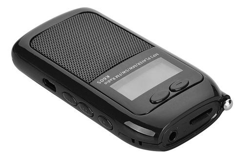 Mini Radio K605 Reproductor Mp3 Sw Fm Portátil