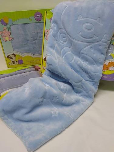Cobertor Bebe Menino Touch Texture Raschel Relevo Jolitex