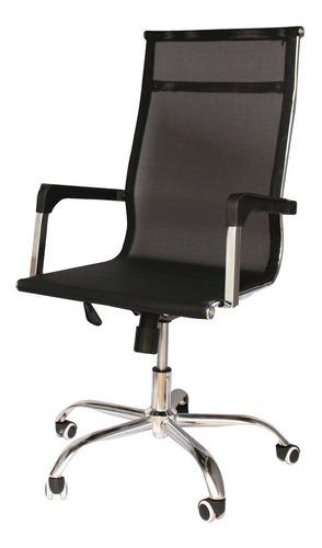 Cadeira Presidente De Escritório Em Tela Executiva Est. Aço