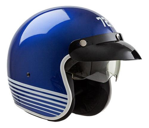 Casco Para Moto Abierto Hawk 721  Azul Colors Talle L