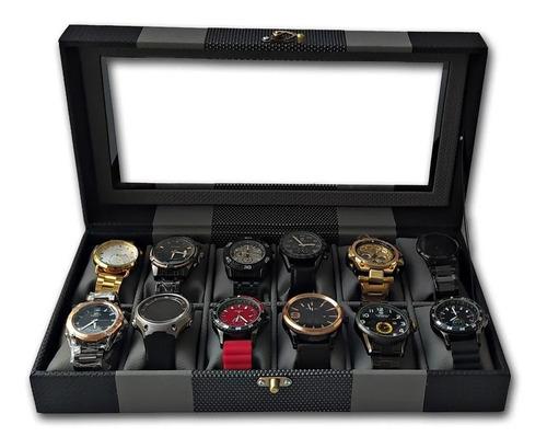 Organizador De Relojes Estuche Relojera De Lujo 12 Puestos