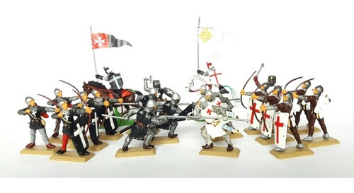Soldados Medievales Set Especial X 20 Arcos Y Lanzas