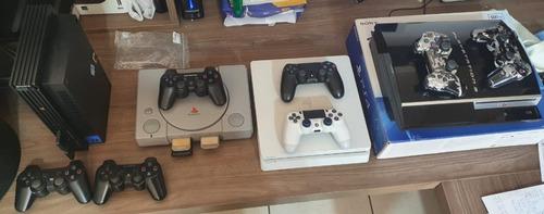 Playstations Kit Colecionador Ps1 Ps2 Ps3 E Ps4 Sony 100%
