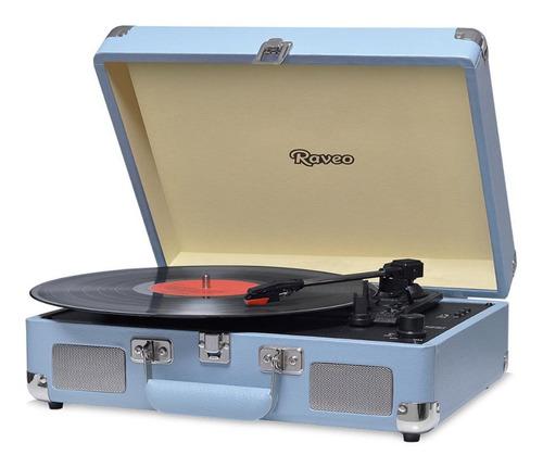 Toca Discos Raveo Sonetto Chrome Vitrola Gravação Usb Bluet