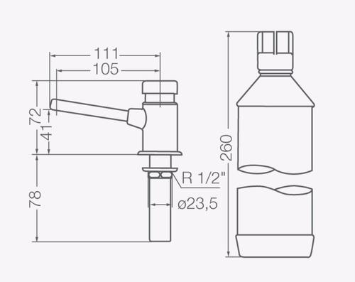 Dosificador De Jabon Fv 340 Pressmatic