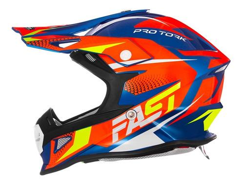 Capacete Motocross Trilha Enduro Pro Tork Fast Fantasy