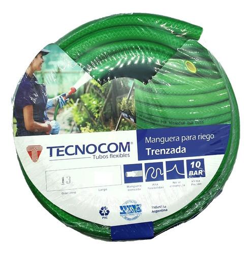 Kit Riego Completo 7 Piezas Manguera Verde 20mts  Aquaflex