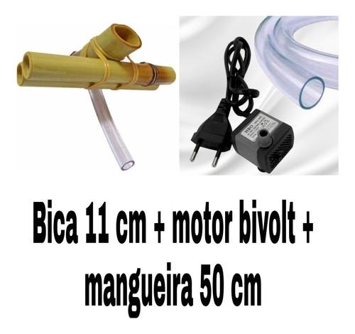 Motor Bivolt + Bica 11 Cm + Mangueira 50 Cm