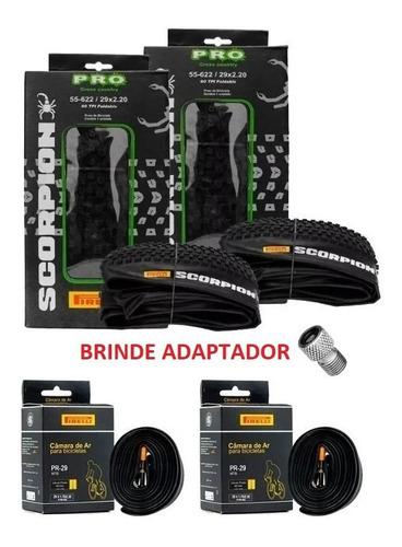 Par Pneus Pirelli Scorpion Pro 29 X2.20 + 2 Câmaras + Brinde