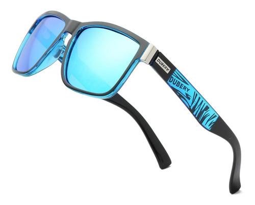 Óculos De Sol Masculino Dubery Polarizado Uv400 Azul Verde