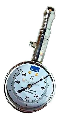 Medidor Control Presion Aire Neumaticos Gomas Manometro Portatil Rakord Movil Orientable Retencion Automatica Desinflado