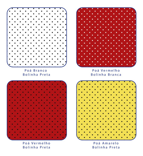 Tecido Tricoline Estampado Poá Mini 100%algodão 50cm X 1,5mt