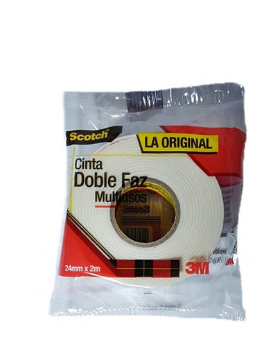 Cinta Doble Faz Multiusos Scotch 3m Ref.2201 24mmx2mts