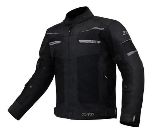 Jaqueta Moto Impermeável X11 Breeze Ventilada Com Proteção