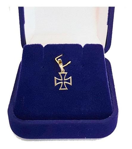 Pingente Ouro 18 Quilates Cruz De Malta De 1cm Ls