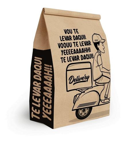 Saco Kraft, Delivery, Sos, Hambúrguer, Tamanho G, 250 Unds.