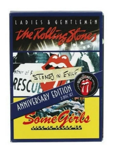 The Rolling Stones Box 3 Dvds Anniversary Ed. Frete Grátis