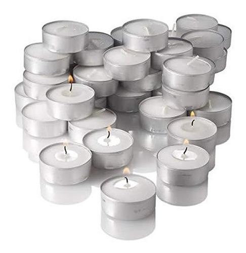 Velas Blancas Yummi Candles Sin Olor 4 Horas X 100 Unidades