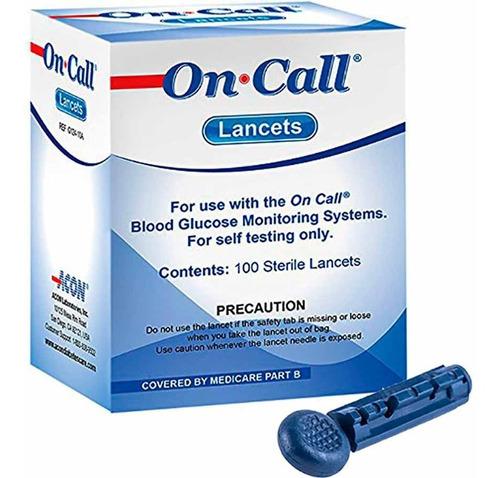 Lancetas On Call Plus X100 Unidades