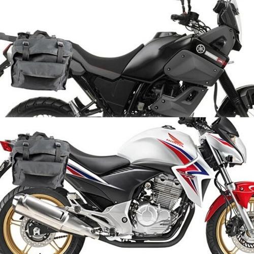 Alforge Bau Bolsa Traseira Universal 40l Moto Black Luxo