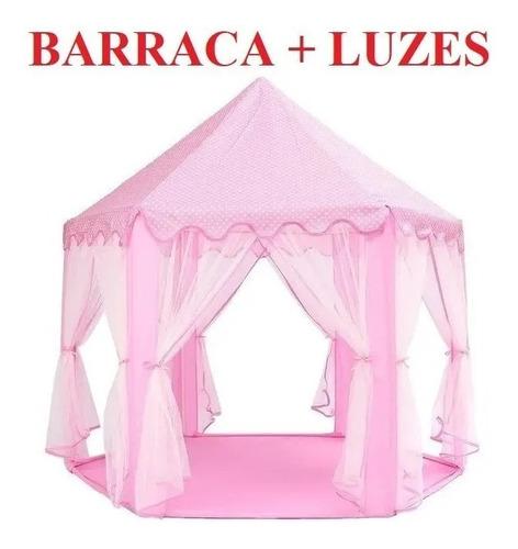 Barraca Infantil Tenda Cabana Castelo Princesas+luzes Led
