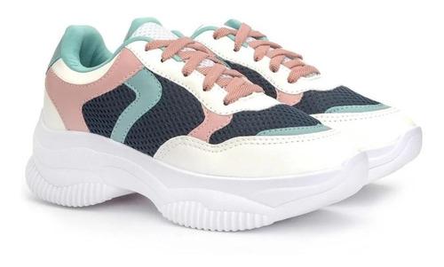 Tenis Feminino Original Chunky Pedraria Sneaker Blogueiras