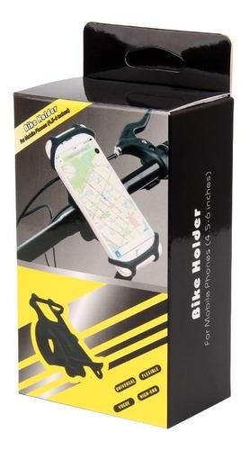 Soporte Celular(4.5 A 7 Pulgadas)para Bicicleta En Silicona