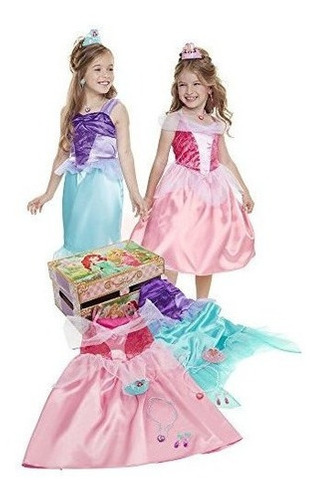 Disney Princess Ariel Y Aurora Dress Up Trunk Pretend Play .