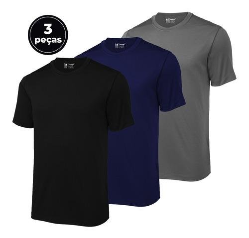 Kit C/3 Camisetas Masculinas Fitness Uv Dry By Zaroc Sports
