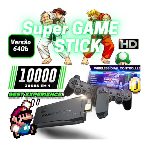 Video Game Stick 11mil Jogos Retro 2 Controles Sem Fio Novo