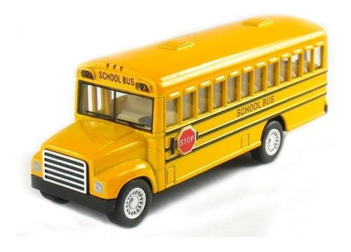 Miniatura Ônibus Escolar Americado De Metal Abre A Porta
