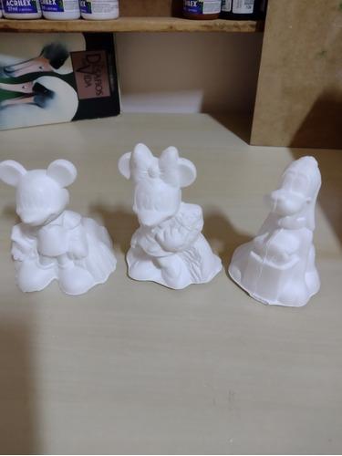 Boneco Estatua Molde Gesso Disney,  Pluto , Mickey É Minnie.