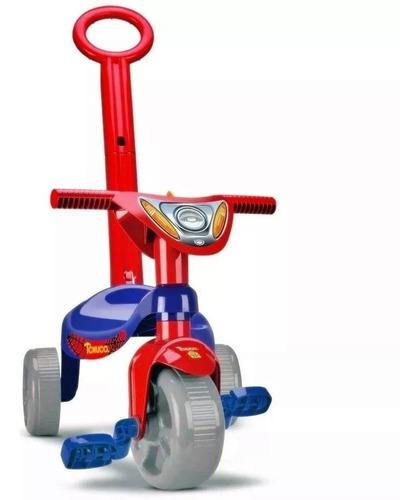 Triciclo Velotrol Herois Motoca Vermelho Velocípede C Haste