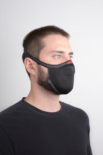 Kit Máscara Fiber Knit + Suporte Filtro + Caixa 30 Un Filtro