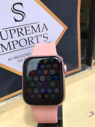 Smartwatch 2021 Iwo Hw12 Relógio Rose Feminino 40mm