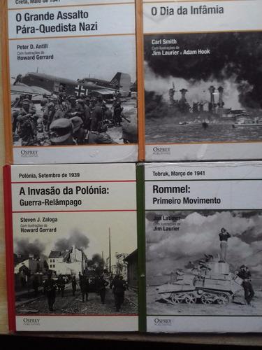 Lote Livros De Guerra 4 Volumes Ed Osprey - Rommel E Outros