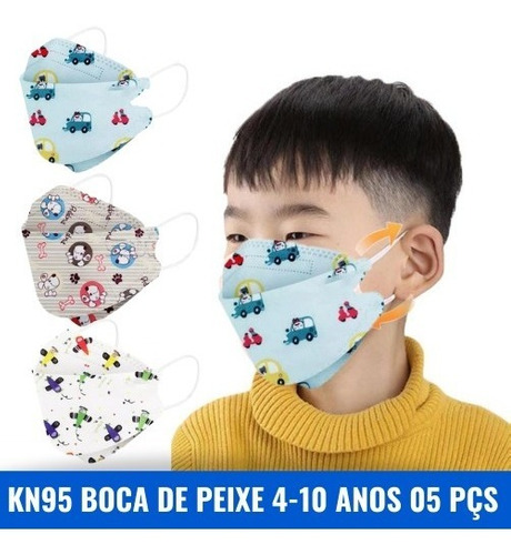 Mascaras Infantil N95 Pff2 Kn95 Proteção Facial Estampadas